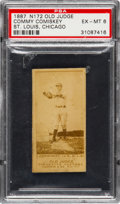 Baseball Cards:Singles (Pre-1930), 1887 N172 Old Judge Charles Comiskey (#86-3) PSA EX-MT 6. ...