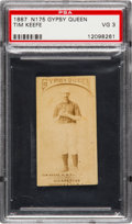 Baseball Cards:Singles (Pre-1930), 1887 N175 Gypsy Queen Tim Keefe PSA VG 3. ...