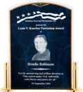 Baseball Collectibles:Others, 2005 Louis V. Koerber Patriotism Award from The Brooks RobinsonCollection....