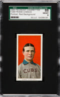 Baseball Cards:Singles (Pre-1930), 1909-11 T206 Piedmont Frank Chance, Red Portrait SGC 88 NM/MT 8 -The Finest Piedmont Back! ...