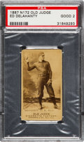 Baseball Cards:Singles (Pre-1930), 1887 N172 Old Judge Ed Delahanty (#123-4) PSA Good 2. ...