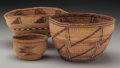 American Indian Art:Baskets, Three Klamath Twined Bowls ... (Total: 3 )