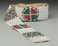 American Indian Art:Beadwork and Quillwork, A Sioux Beaded Hide Blanket Strip. c. 1890...