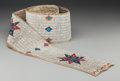 American Indian Art:Beadwork and Quillwork, A Sioux Beaded Hide Blanket Strip. c. 1910...