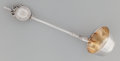 Silver & Vertu:Flatware, A Gorham Lady's Pattern Partial Gilt Coin Silver Cream Ladle in Original Fitted Case, Providence, Rhode Island, ...