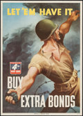 "Movie Posters:War, World War II War Bonds (U.S. Government Printing Office, 1943). 4thWar Loan Poster (20"" X 28"") ""Let 'Em Have It!"" War.. ..."