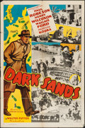 "Movie Posters:Adventure, Dark Sands (Record Pictures, 1938). One Sheet (27"" X 41"").Adventure.. ..."