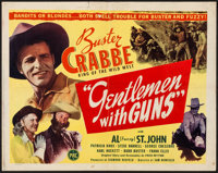 "Gentlemen with Guns & Other Lot (PRC, 1946). Half Sheet (22"" X 28""), Title Card & Lobby Card (11""..."