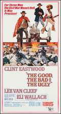 "Movie Posters:Western, The Good, the Bad and the Ugly (United Artists, 1968). Three Sheet(41.25"" X 76.75""). Western.. ..."