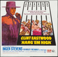 "Movie Posters:Western, Hang 'Em High (United Artists, 1968). Six Sheet (79"" X 80"").Western.. ..."