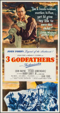 "Movie Posters:Western, 3 Godfathers (MGM, 1948). Three Sheet (41.5"" X 78.75""). Western.. ..."