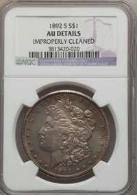 1892-S $1 -- Improperly Cleaned -- NGC Details. AU. Mintage 1,200,000. ...(PCGS# 7218)