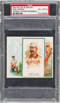 Baseball Cards:Singles (Pre-1930), 1888 N43 Allen & Ginter Buck Ewing PSA EX-MT 6 - Pop Three,None Higher! ...