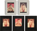 Boxing Collectibles:Memorabilia, Circa 1955 Ozzie Sweet Photographic Negatives featuring Joe Louis Lot of 5.... (Total: 5 items)