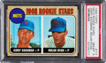 Baseball Cards:Singles (1960-1969), 1968 Topps Nolan Ryan/Jerry Koosman Rookie #177 PSA NM-MT 8. ...