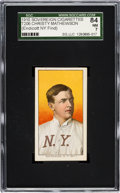 Baseball Cards:Singles (Pre-1930), 1909-11 T206 Sovereign 350 Christy Mathewson, Portrait SGC 84 NM 7- Pop One, The Highest Sovereign Back! ...