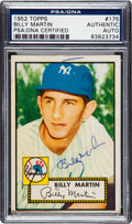 Autographs:Sports Cards, Signed 1952 Topps Billy Martin #175 PSA/DNA Authentic. ...