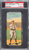 Baseball Cards:Singles (Pre-1930), 1911 T201 Mecca Double Folders Collins/Baker PSA NM-MT 8 - PopFour, None Higher! ...