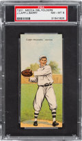Baseball Cards:Singles (Pre-1930), 1911 T201 Mecca Double Folders Lapp/Barry PSA NM-MT 8 - Pop Two, None Higher!...