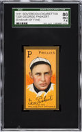 Baseball Cards:Singles (Pre-1930), 1911 T205 Sovereign George Paskert SGC 86 NM+ 7.5 - Pop One,Highest Graded Example! ...