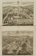Books:Prints & Leaves, [Architecture]. Johannes Kip and Leonard Knyff. Pair of Double-PagePlates from Brittania Illustrata: or, Perspecti...