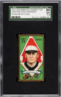 Baseball Cards:Singles (Pre-1930), 1911 T205 Sovereign Walter Johnson SGC NM+ 86 - One of The Finest In an SGC Holder! ...