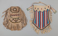 American Indian Art:Beadwork and Quillwork, Two Apache Beaded Hide Pouches. c. 1890 and 1910... (Total: 2 )