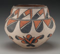 American Indian Art:Pottery, A San Ildefonso Polychrome Storage Jar. c. 1910...