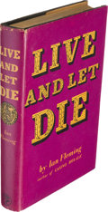 Books:Fiction, Ian Fleming [ James Bond ]. Live and Let Die. London: Jonathan Cape, [1954]. First edition in the original first i...