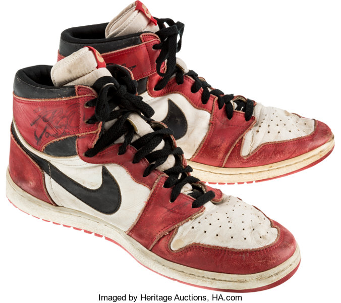 e9328bb963e ... Basketball Collectibles:Others, 1985 Michael Jordan Game Worn &  Period-Signed Chicago ...