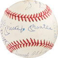 Baseball Collectibles:Balls, 1980's 500 Home Run Club Signed Baseball with Career TotalNotations....