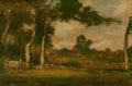 Fine Art - Painting, American:Antique  (Pre 1900), Elliott Daingerfield (American, 1859-1932). SunsetLandscape. Oil on canvas. 20 x 30 inches (50.8 x 76.2 cm).Signed low...
