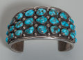 American Indian Art:Jewelry and Silverwork, A Navajo Silver and Turquoise Bracelet...