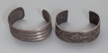 American Indian Art:Jewelry and Silverwork, Two Navajo Silver Bracelets... (Total: 2 )