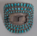 American Indian Art:Jewelry and Silverwork, A Navajo Silver and Turquoise Watch Band. J. M. Begay...