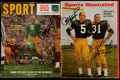 Football Collectibles:Publications, Packers Greats Signed Vintage Magazines Lot of 2....
