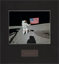 Autographs:Celebrities, Alan Shepard Signature and Apollo 14 Color Photo in MattedDisplay....