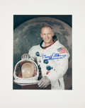 Explorers:Space Exploration, Buzz Aldrin Signed Large Apollo 11 White Spacesuit Color PhotoOriginally from His Personal Collection. ...