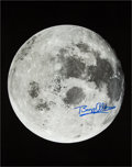 "Explorers:Space Exploration, Buzz Aldrin Signed Large Transearth Coast ""Moon"" Color PhotoOriginally from His Personal Collection. ..."