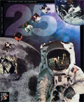 "Explorers:Space Exploration, Buzz Aldrin Signed ""25"" Apollo 11 Collage Color Print Originallyfrom His Personal Collection...."