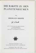 Autographs:Inventors, Hermann Oberth Signed Book: Die Rakete Zu DenPlanetenräumen. ...