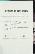 Autographs:Celebrities, Harrison Schmitt Signed Book: Return to the Moon. ...