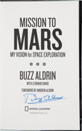 Autographs:Celebrities, Buzz Aldrin Signed Book: Mission to Mars....
