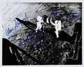 Explorers:Space Exploration, Apollo 11 Lunar Flag-Planting NASA Photo Signed by Seven Astronautsand Six Rocket Scientists, Originally Obtained by Konrad D...
