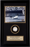 Baseball Collectibles:Others, Circa 2000 Framed Displays Lot of 2 from The Brooks Robinson Collection....