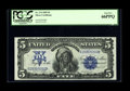Large Size:Silver Certificates, Fr. 274 $5 1899 Silver Certificate PCGS Gem New 66PPQ. In ouropinion, the margins are perfectly even as is the front to bac...