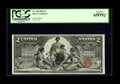 Large Size:Silver Certificates, Fr. 248 $2 1896 Silver Certificate PCGS Gem New 65PPQ. FewEducational deuces boast margins of this width. Fortunately, the...
