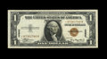 Fr. 2300* $1 1935A Hawaii Silver Certificate. Extremely Fine-About Uncirculated. Wide margins surround this $1 star that...