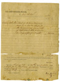 Autographs:Military Figures, Confederate General Thomas J. 'Stonewall' Jackson & General Isaac R. Trimble Signed War Document. This document concerning t...