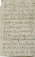 """Military & Patriotic:Civil War, Confederate General James Dearing Autograph Letter Signed """"James Dearing."""" Four pages, 8.25"""" x 13.5"""", """"In the Trenches..."""
